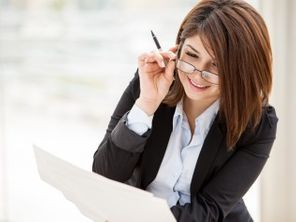 accountant reviewing paperwork